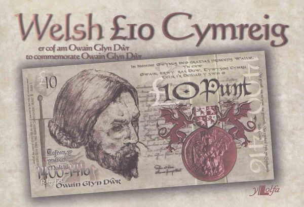 A picture of 'Papur £10 Owain Glyndwr' 