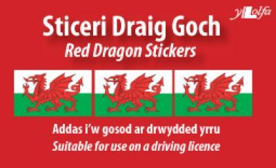 A picture of 'Sticeri Draig Goch / Red Dragon Stickers' 