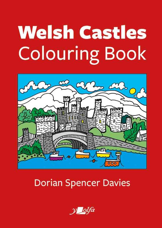 Llun o 'Welsh Castles Colouring Book' 