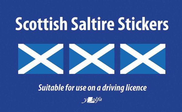 A picture of 'Sticeri Baner Yr Alban / Scottish Saltire Stickers' 