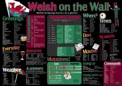 A picture of 'Welsh on the Wall Poster' 