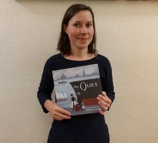 Award-winning illustrator's first book about emigrating, longing and quilts